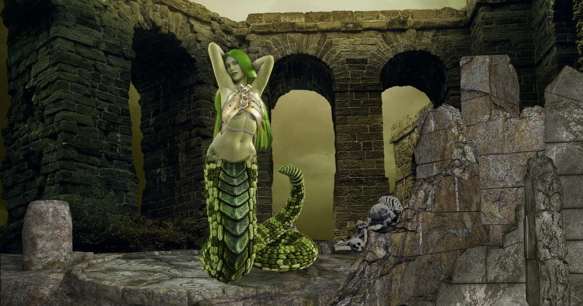 Echidna - half woman half serpent featured image